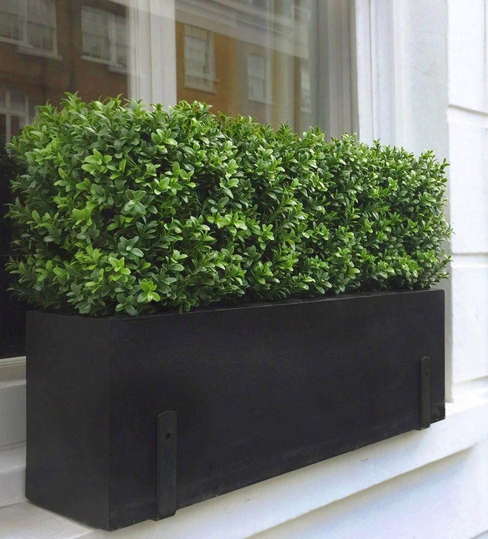 483 fake landscapes classic rectangular buxus hedge in 90cm planter