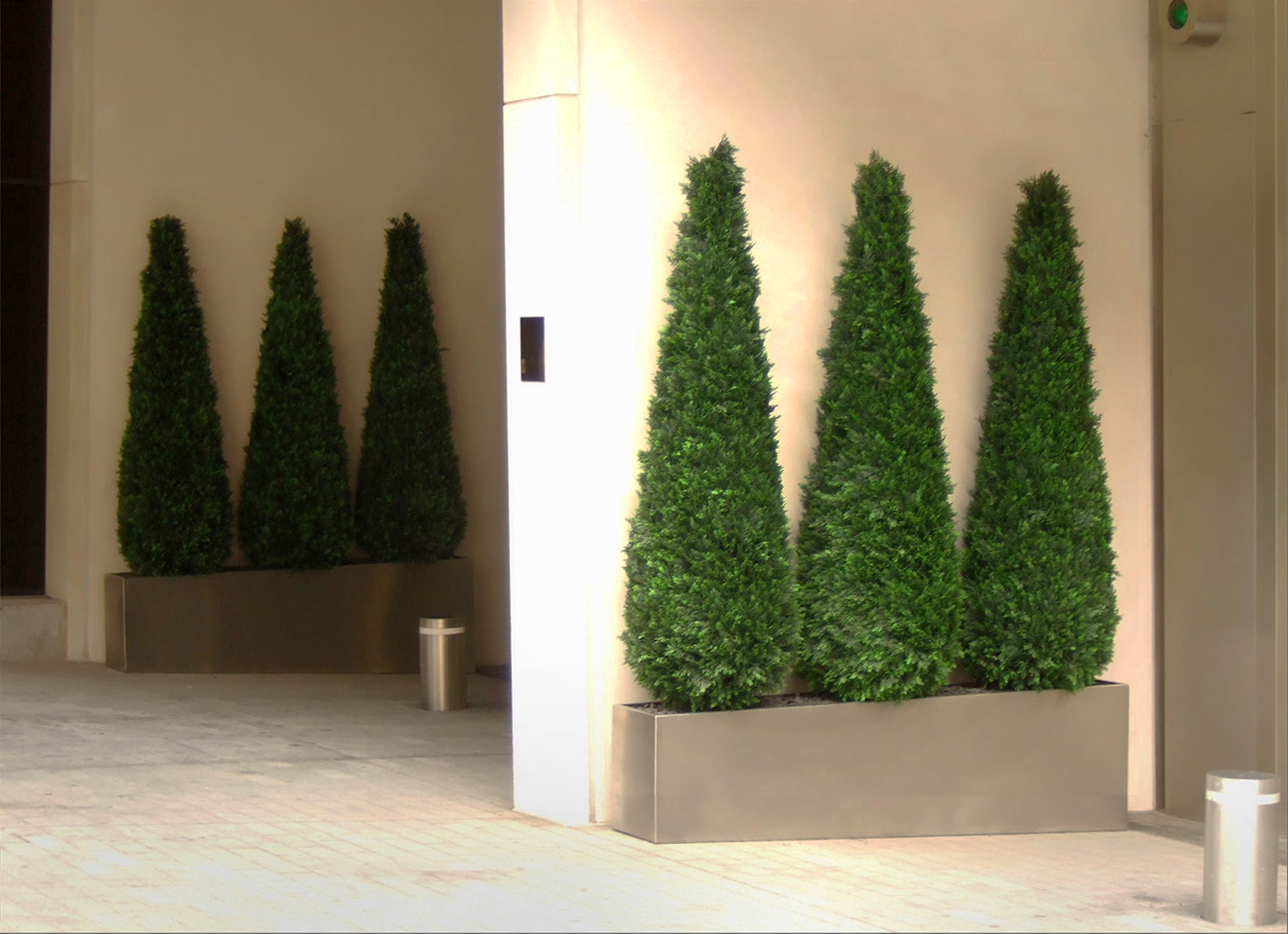 456 fake landscapes mini cypress trees 180cm One Hyde Park