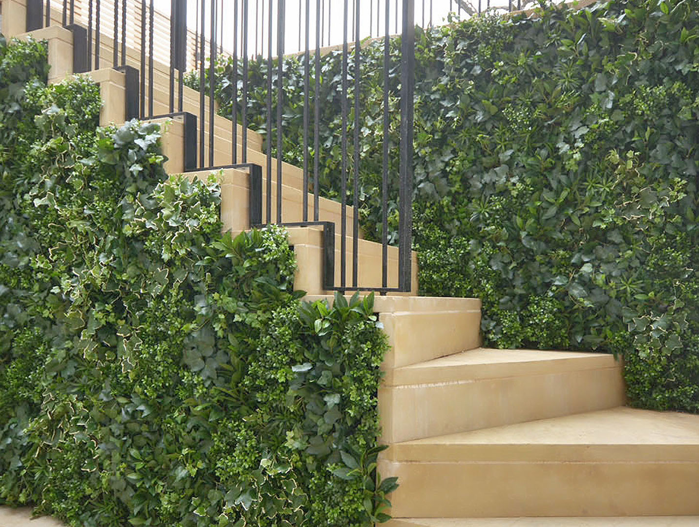 517 fake landscapes shallow basement stair living wall 517
