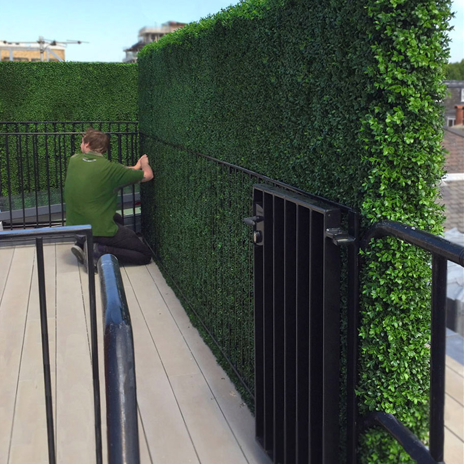 608 fake landscapes boxwood screening hedge for railings 180cm