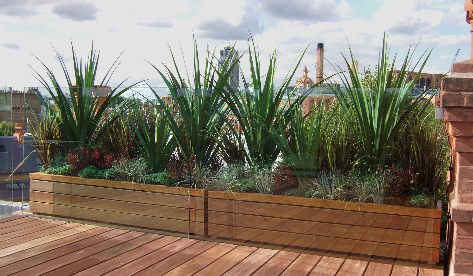 722 fake landscapes roof SW3 pandanas and grasses