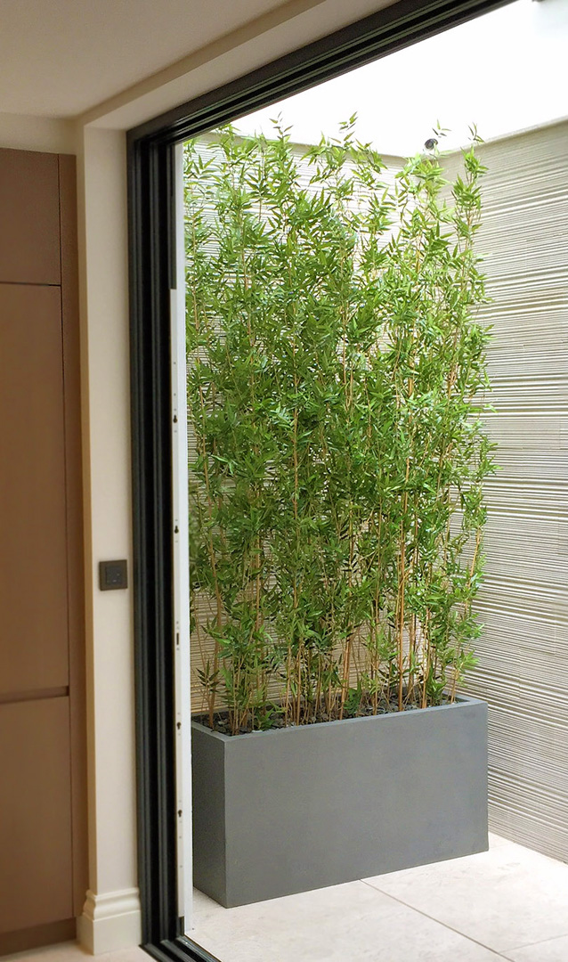 708 fake landscapes oriental bamboo 280cm in contemporary trough